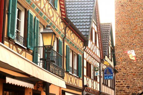 Bad Neuenahr Häuser und Laterne