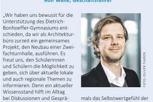 Zeitungsausschnitt Geschäftsführer Rolf Walle