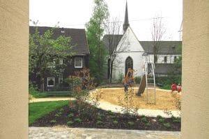 Kindergarten Blick auf den Hof