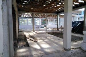 Gymnasium Neubau von innen