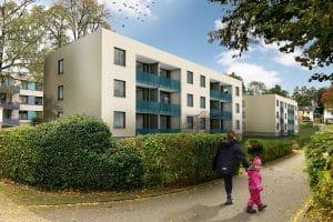 Neubau Wohnungen von außen