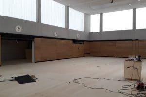 Bau Sporthalle innen